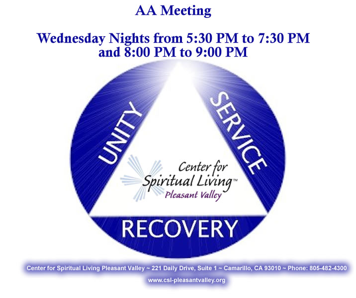 Wednesday Evening AA Meeting at CSL Pleasant Valley