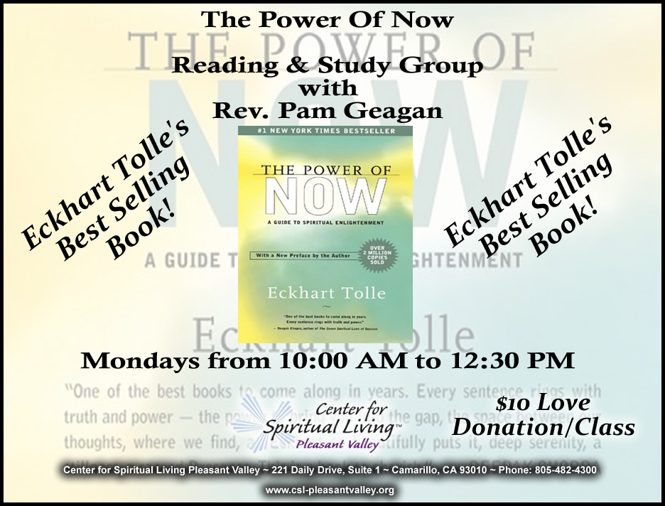 Power of Now Study Group with Rev. Pam Geagan