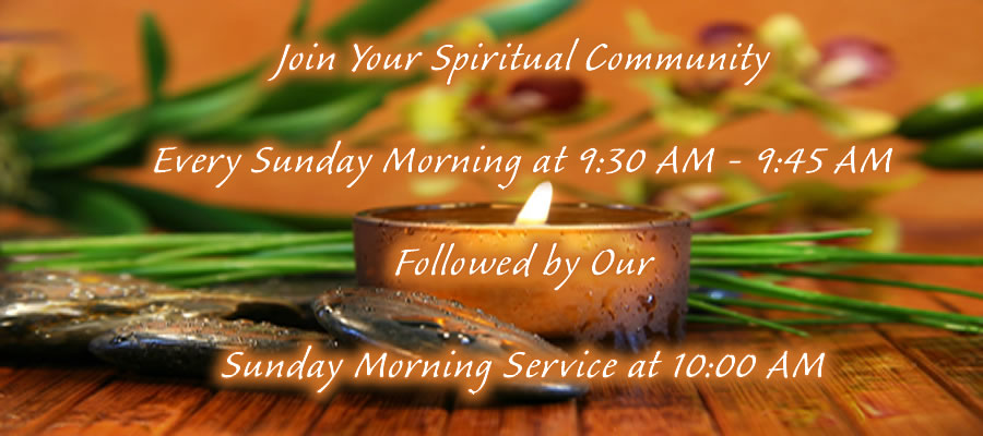 Sunday Morning Meditation at the Center for Spiritual Living, Camarillo